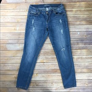 Maurices   Distressed Ankle Jeans